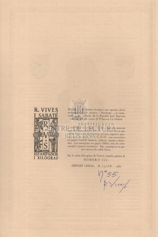 Cobles en lloança del glorios dramaturg Angel Guimerà escrites en l'avinentesa de l'homenatge que li ofrenà el carrer de Petritxol, l'any MCMLXI