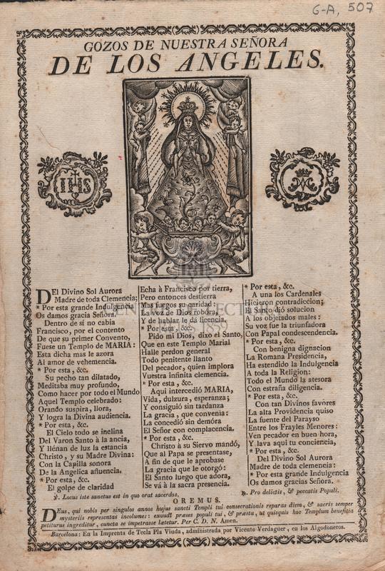 Gozos de Nuestra Señora de los Ángeles