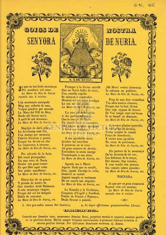 Goigs de nostra senyora de Nuria