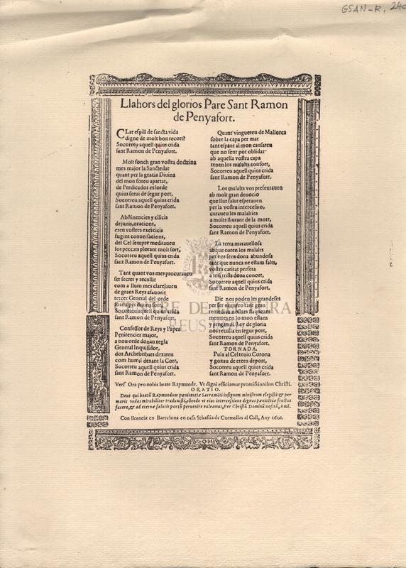 Llahors del glorios Pare Sant Ramon de Penyafort