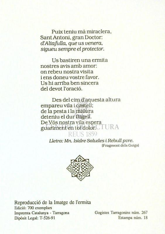Sant Antoni de Pàdua venerat a la seva ermita d'Altafulla