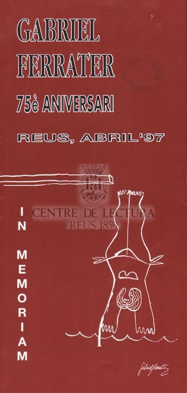 Gabriel Ferrater 75è aniversari: Reus, abril'97 [programa]
