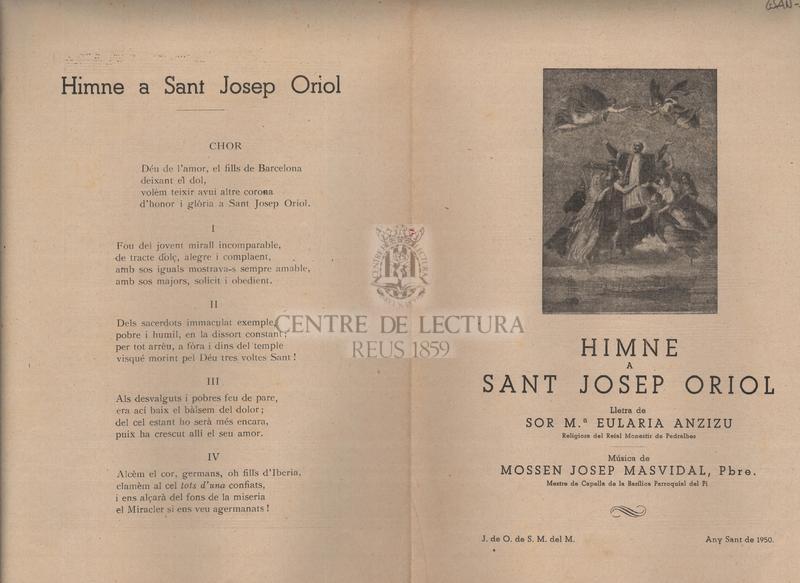 Himne a Sant Josep Oriol