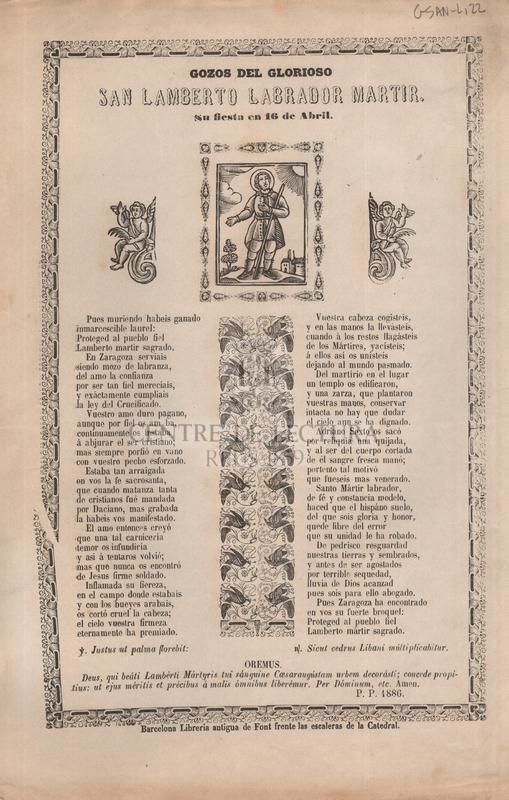 Gozos del glorioso san Lamberto labrador martir, Su fiesta en 16 de Abril