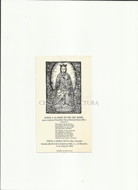 Goigs a la Mare de Déu del Remei que es venera al Castell de Santa Maria de Santa Oliva