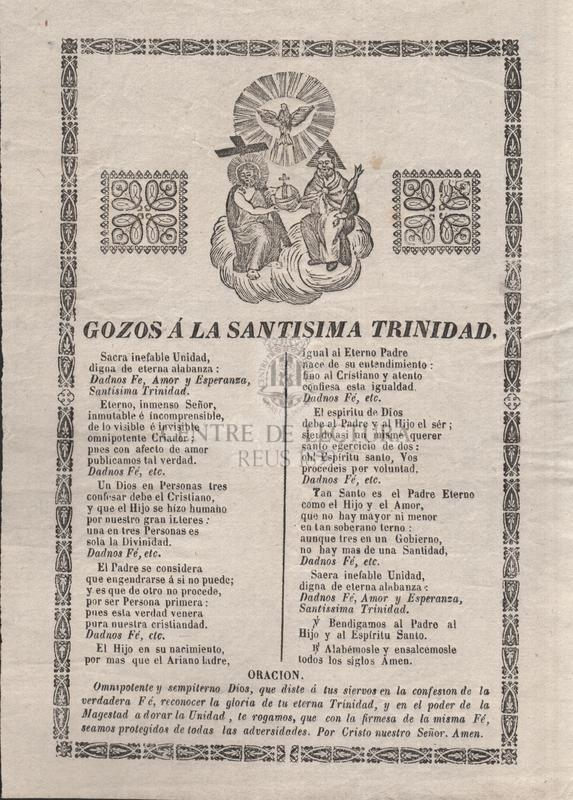Gozos á la Santisima Trinidad