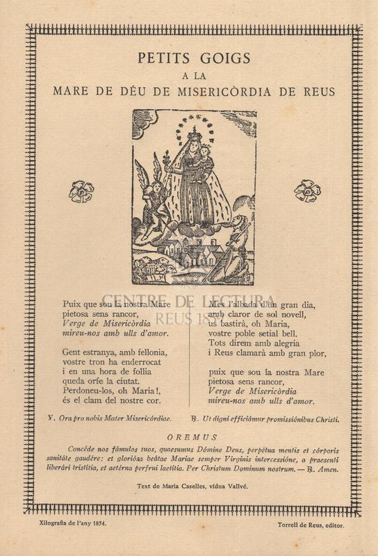 Petits goigs a la Mare de Déu de Misericordia de Reus