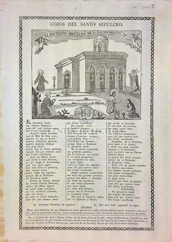 Gozos del santo sepulcro