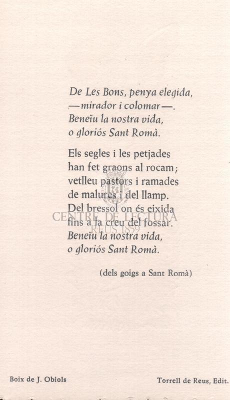 Dels goigs a Sant Romà