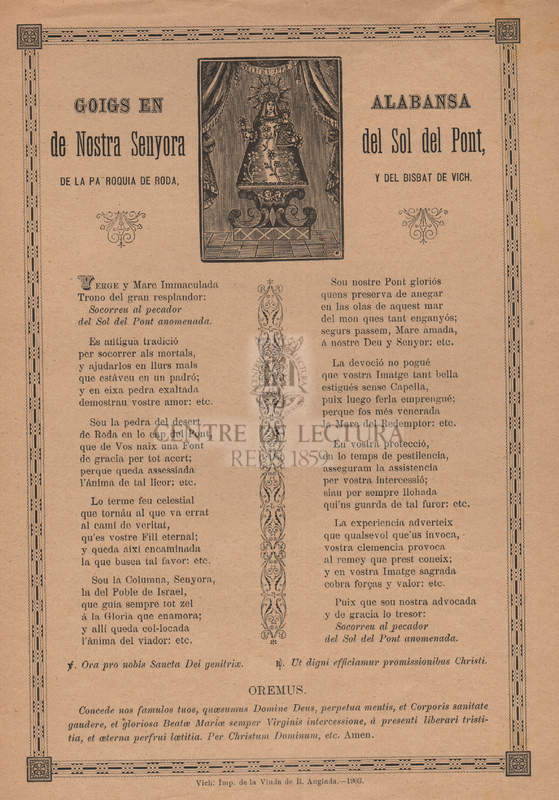 Himno á la Vírgen de la Soledad, que se venera en la iglesia parroquial de san Francisco de paula, de esta ciudad.