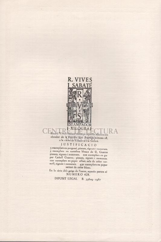 Goigs en llaor de Santa Llucia, Verge i Martir Excelsa Patrona de la reverenda i sis vegades centenària Comunitat de Preveres de la Basílica de Santa Maria de Vilafranca del Penedés.