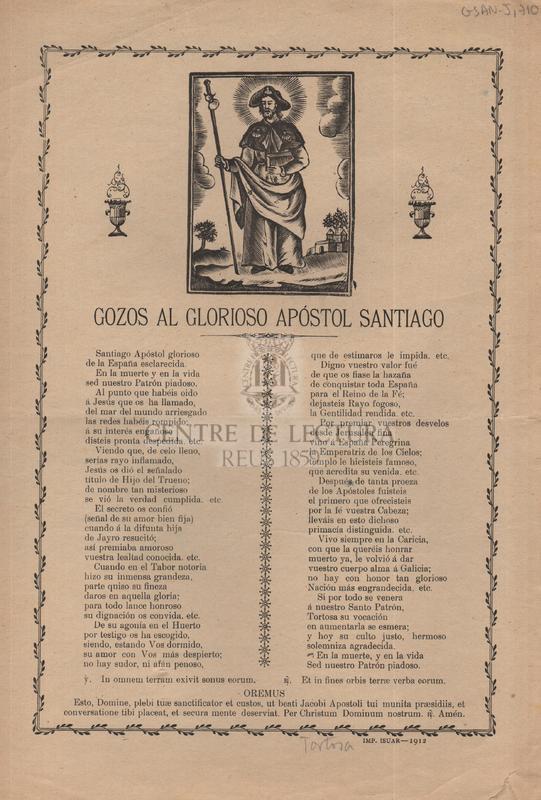 Gozos al glorioso apóstol Santiago