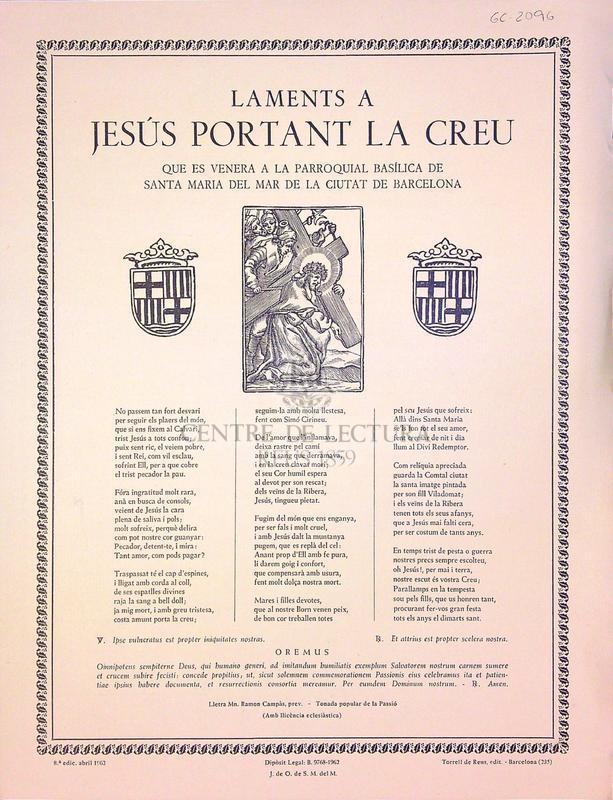 Laments a Jesús portant la Creu que es venera a la parroquial basílica de Santa Maria del Mar de la ciutat de Barcelona