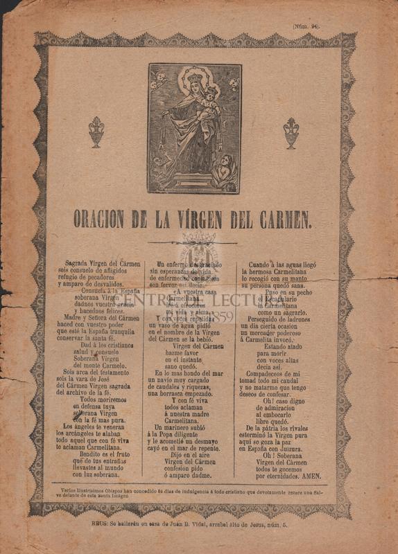 Oración a la Virgen del Carmen