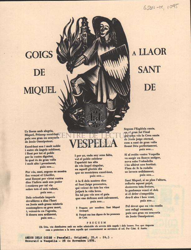 Goigs a llaor de Sant Miquel de Vespella