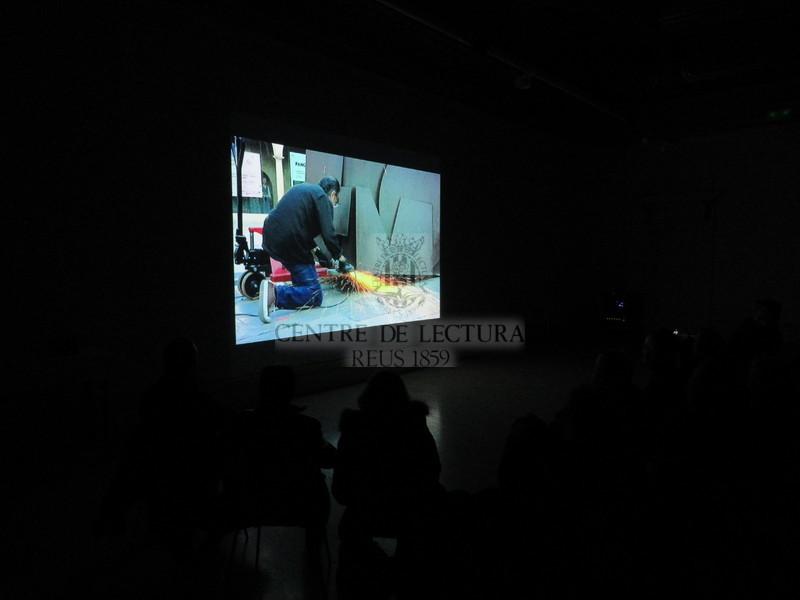 """Presentació del videopoema """"La vetlla"""" de Jordi Lara amb Salvador Juanpere  i Socle des formes"""