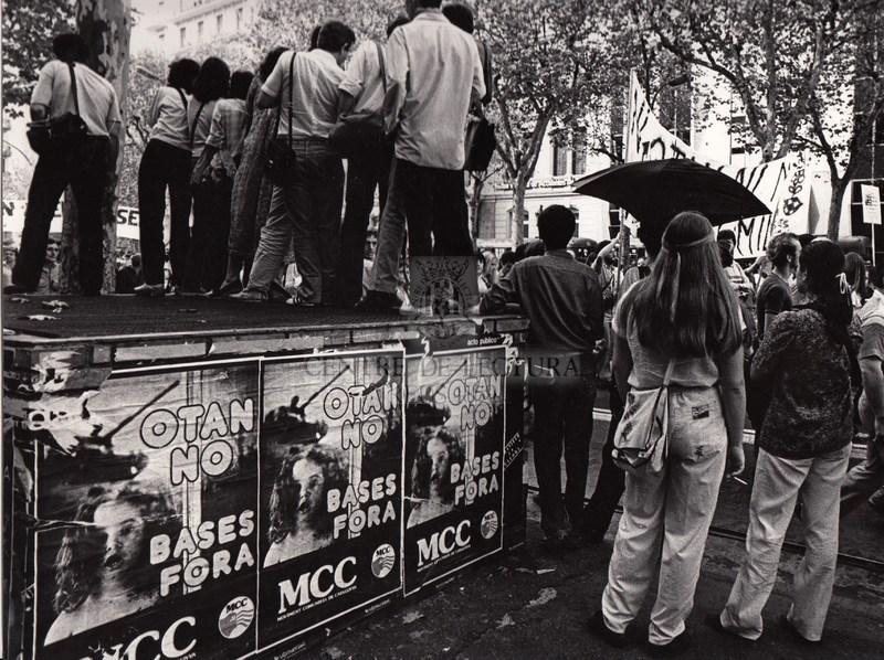 Manifestació en contra de la Otan a Barcelona