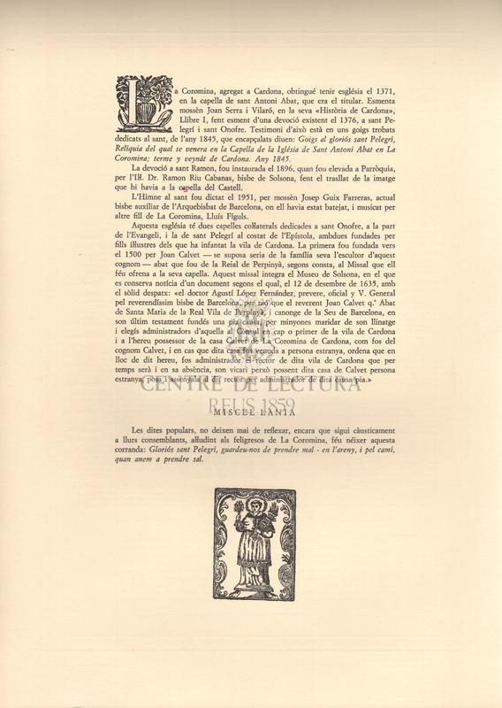 Himne a Sant Ramon Nonat. Patró de la Coromina