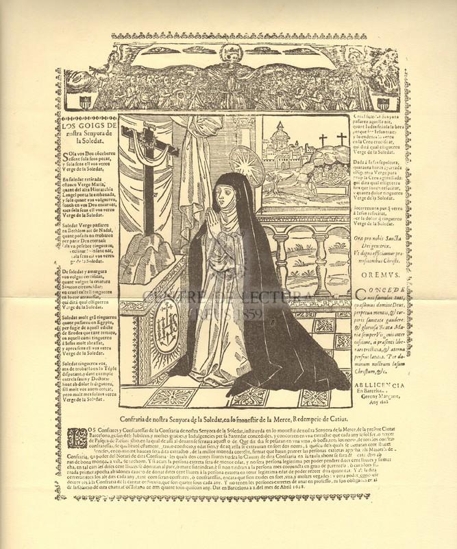 Los goigs de nostra Senyora de la Soledat