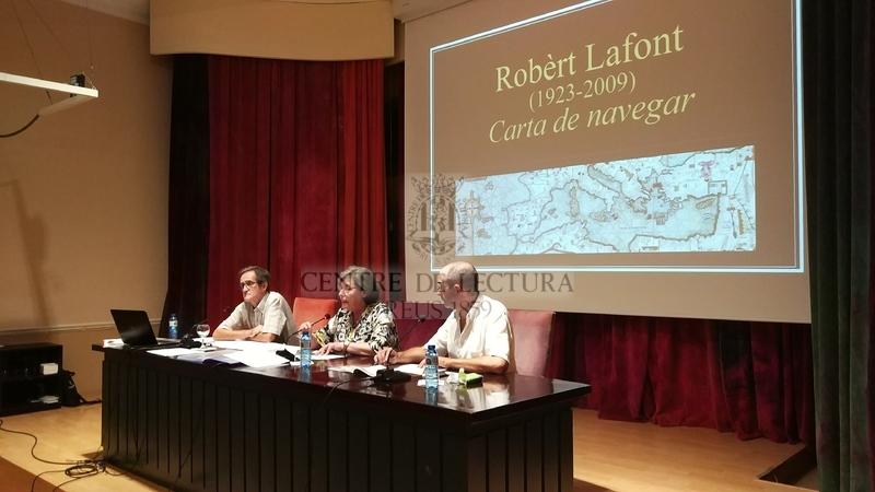 """Conferència: """"Robèrt Lafont, literat. Carta de navegar"""" a càrrec de Jaume Figueras, traductor"""