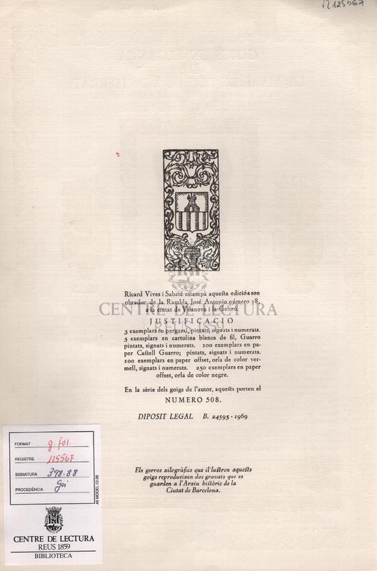 Goigs en lloança de la Mare de Deu de Montserrat venerada en l'esglesia parroquial de Llivia, del Bisbat d'Urgell.