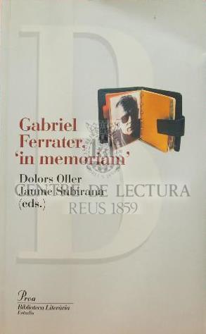 """Gabriel Ferrater, """"in memoriam"""""""