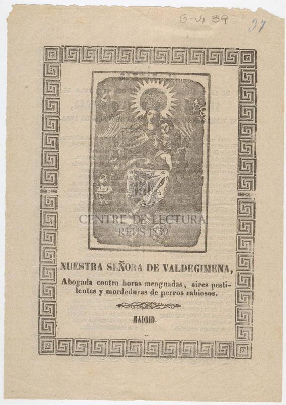 Alabanzas de la Santísima Virgen que con el titulo de Nuestra Señora de Valdegimena, se venera en su Santuario de la provincia de Avila