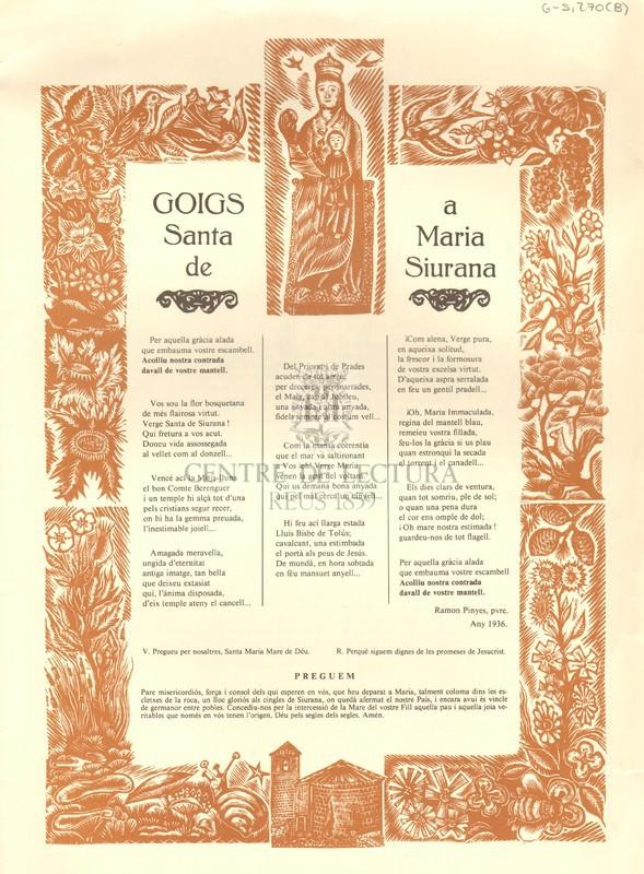 Goigs a Santa Maria de Siurana