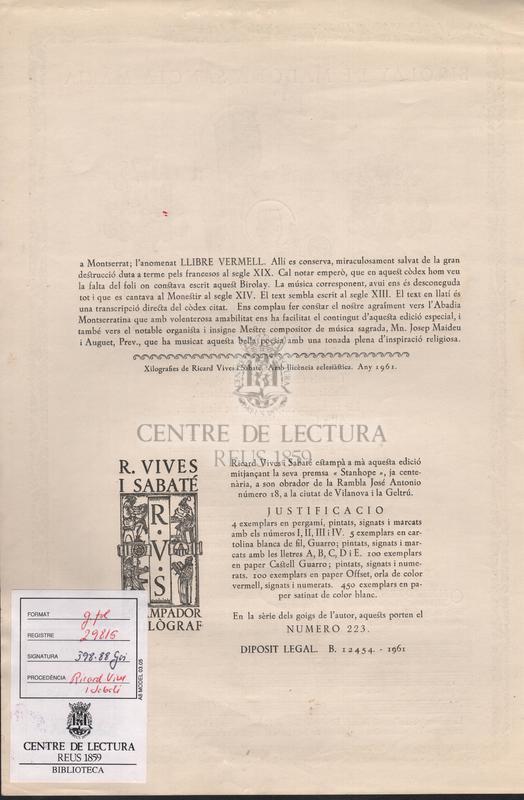 Birolay de Madona Sancta Maria.