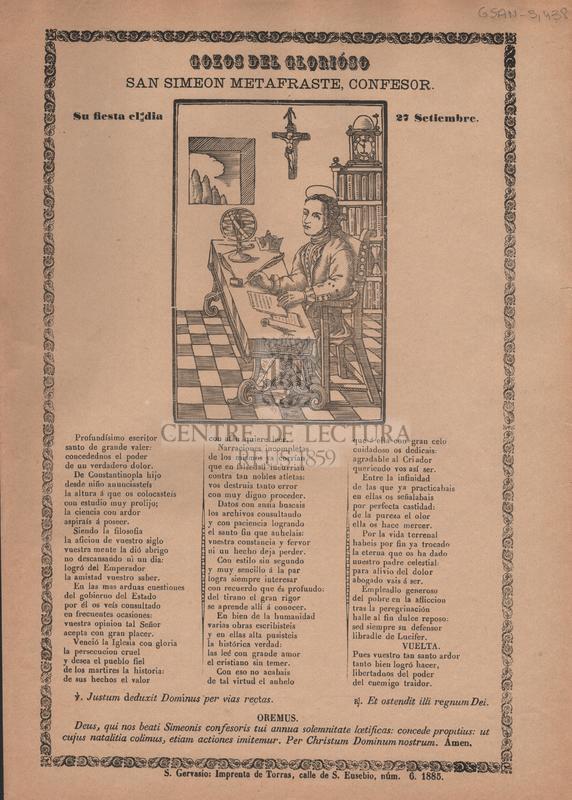 Gozos del glorióso San Simeon metafraste, confesor