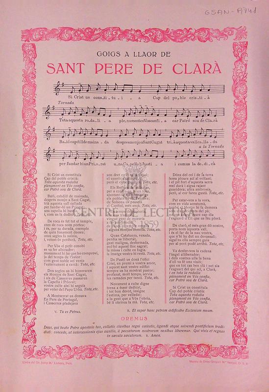 Goigs a llaor de Sant Pere de Clarà
