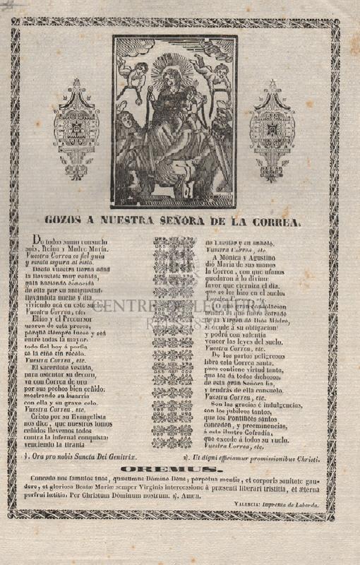 Gozos a Nuestra Señora de la Correa