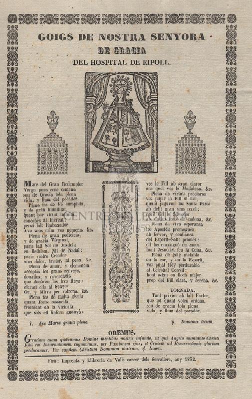 Goigs de Nostra Senyora de Gracia del Hospital de Ripoll