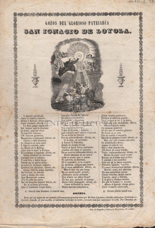 Gozos del glorioso patriarca San Ignacio de Loyola