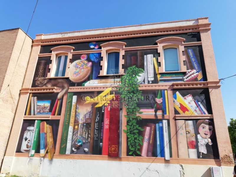 Mural de la Biblioteca Xavier Amorós