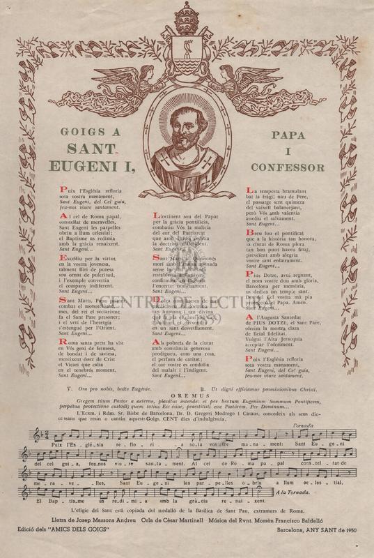 Goigs a Sant Eugeni I, papa i confessor