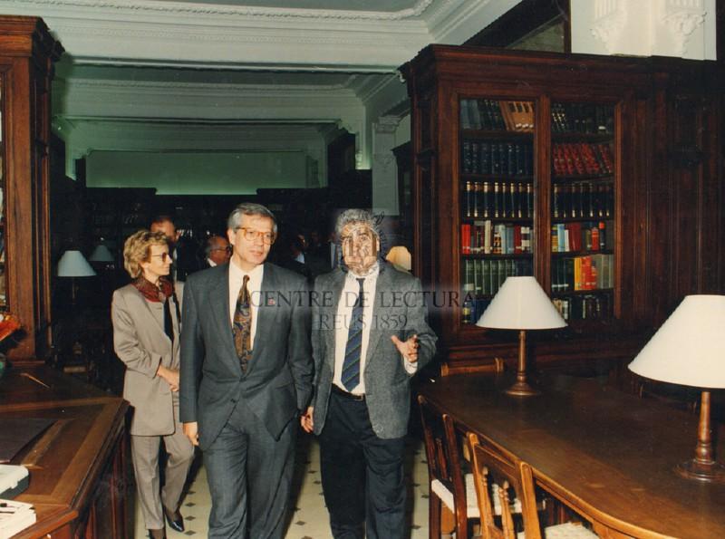 Visita oficial del Ministre d'obres públiques Josep Borrell