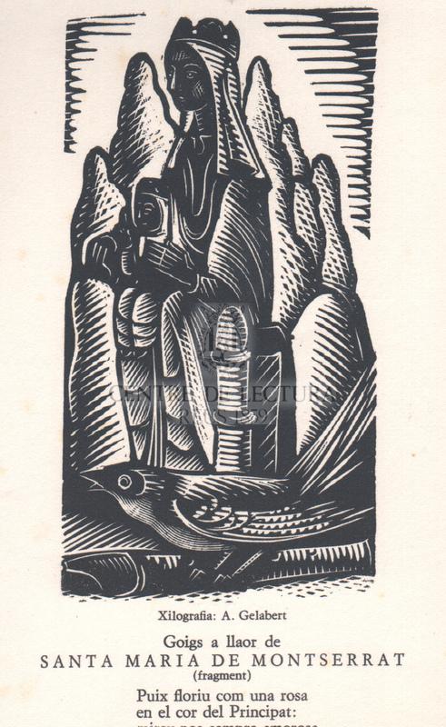 Goigs a llaor de Santa Maria de Montserrat (fragment).