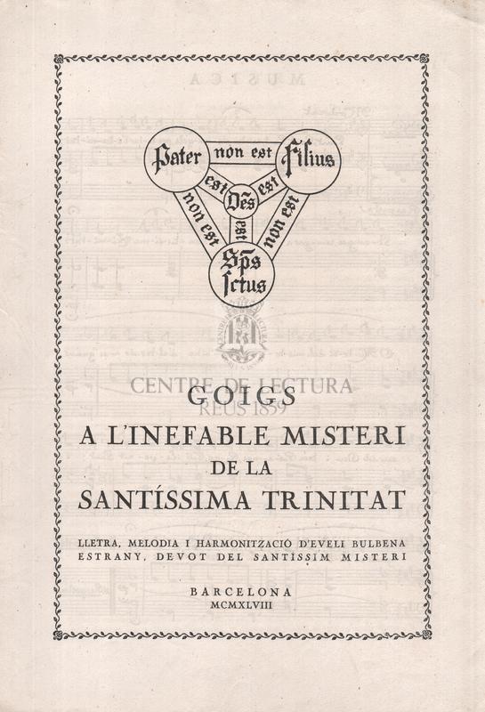 Goigs a l'inefable misteri de la Santíssima Trinitat