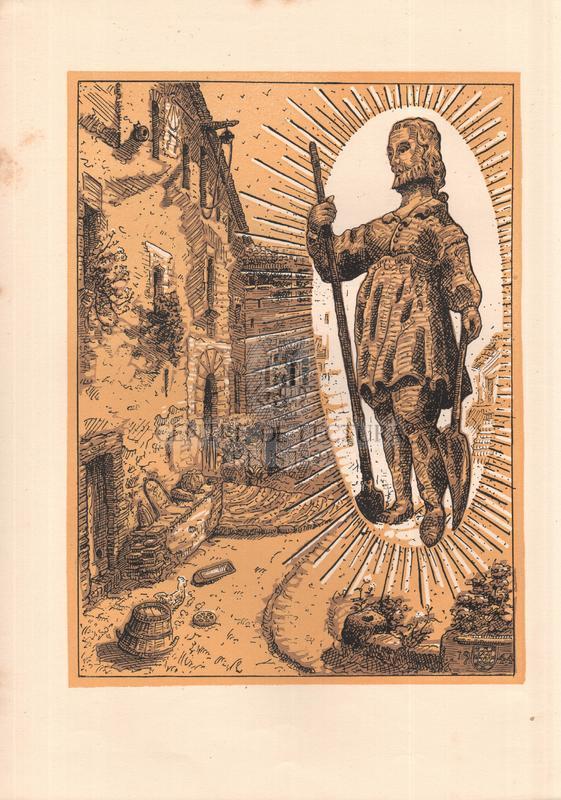 Gozos al Glorioso San Isidro Labrador patrón de la Hermandad Sindical de Labradores y Ganaderos de Tarrasa, Se venera en la Parroquial Iglesia del Santo Espíritu, Obispado de Barcelona