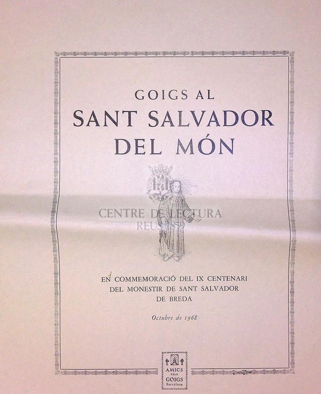 Goigs al Sant Salvador del món