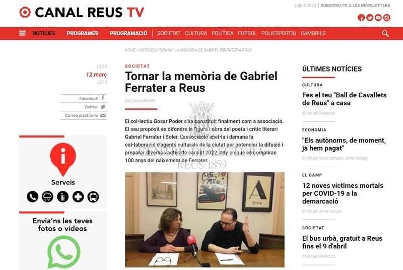 Tornar la memòria de Gabriel Ferrater a Reus