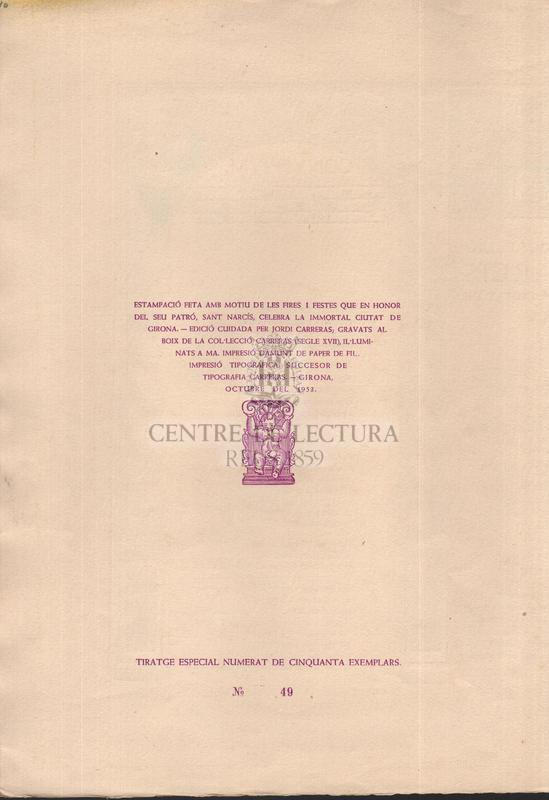 Goigs del gloriós patró Sant Narcís fill i bisbe de la ciutat de Girona