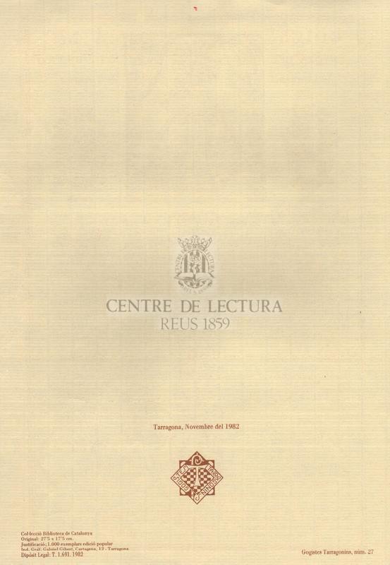 Goigs a Ntra. Senyora del Claustro de la Cathedral de Tarragona