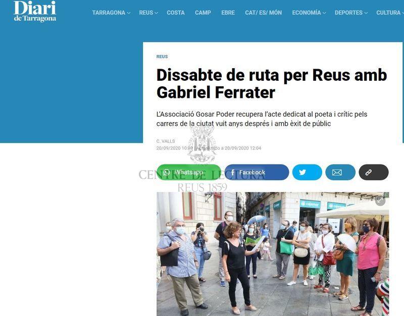 Dissabte de ruta per Reus amb Gabriel Ferrater