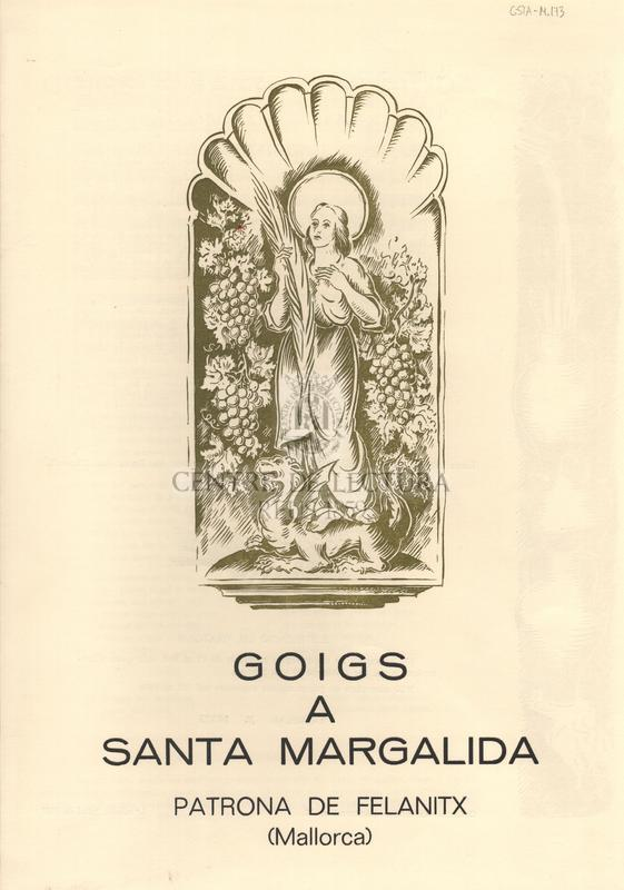 Goigs a Santa Margalida, patrona de Felanitx (Mallorca)