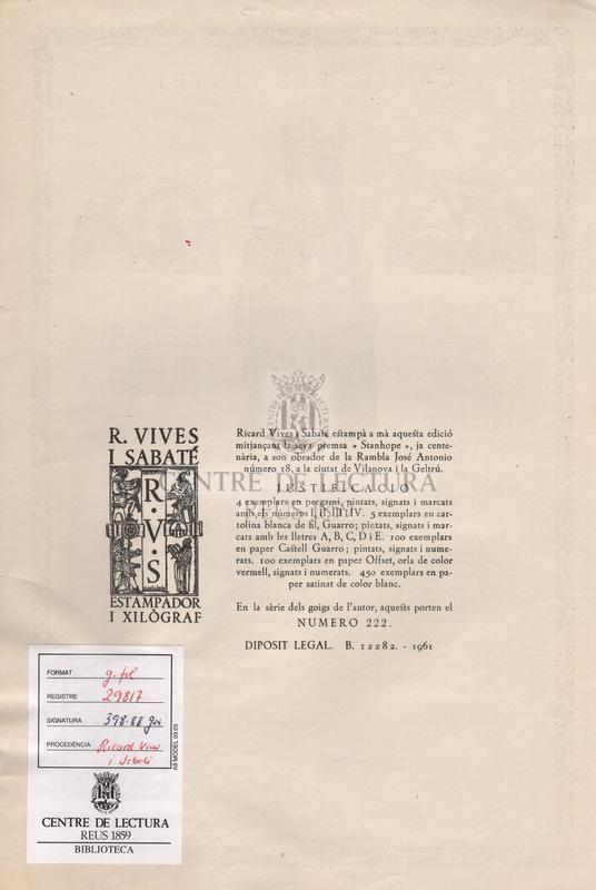 Cantic del Vinyet - Text original de Salvador Soler i Forment.