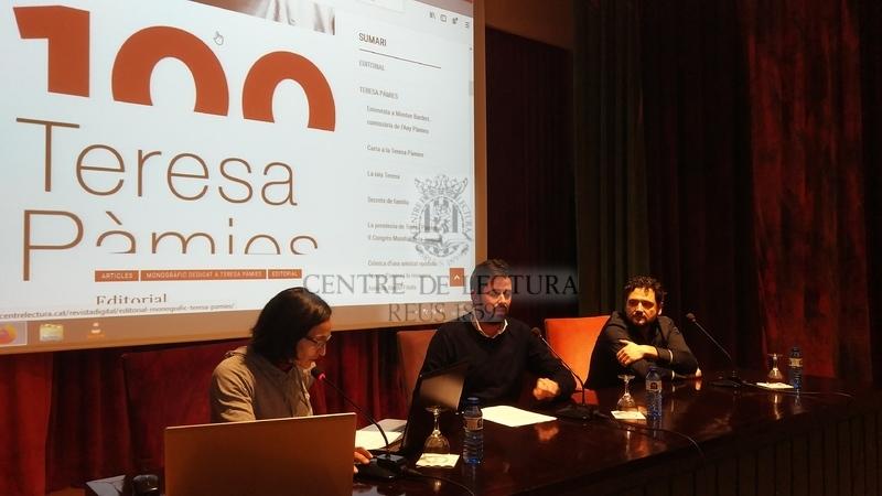 Presentació del monogràfic de la Revista Digital del Centre de Lectura dedicat al centenari del naixement de l'escriptora Teresa Pàmies