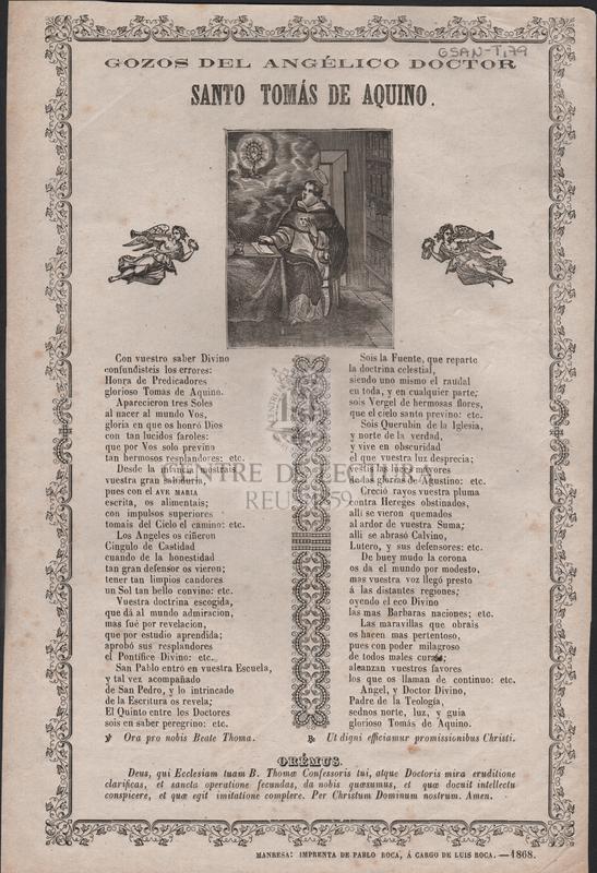Gozos del angélico doctor Santo Tomás de Aquino