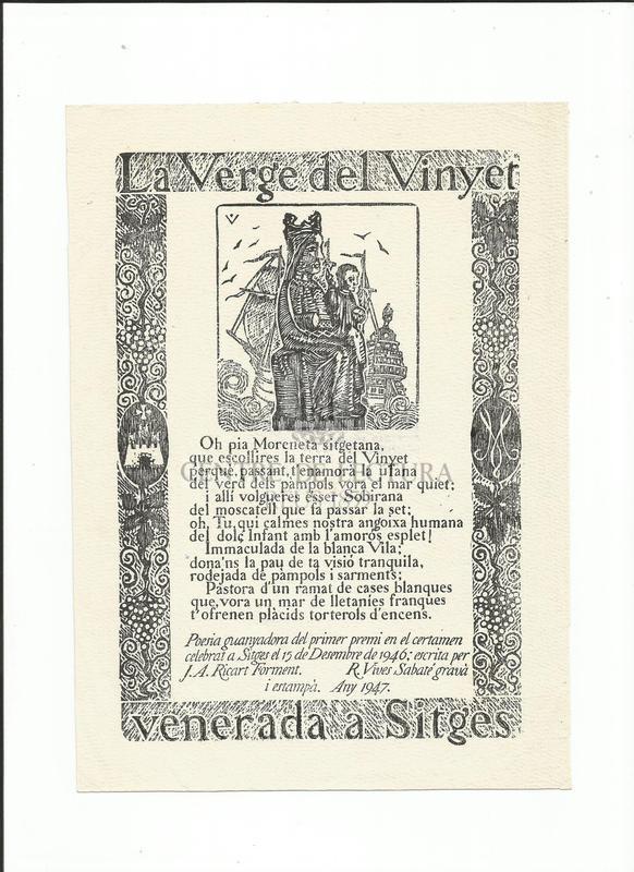 La Verge del Vinyet venerada a Sitges